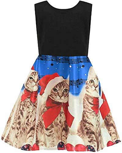 Jacket Vestido de Navidad para bebés y niñas con dibujos animados impresos, ropa de princesa (color: azul, tamaño: 4-5 años)