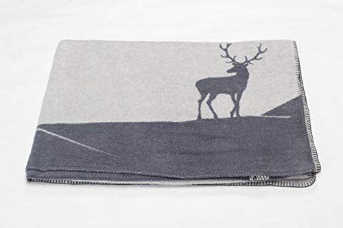David Fussenegger - Savona - Wohndecke - Kuscheldecke - Hirschberge - Filz/grau - 150 x 200 cm