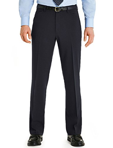 Mens Farah Frogmouth Pocket Trousers Navy 40x29'