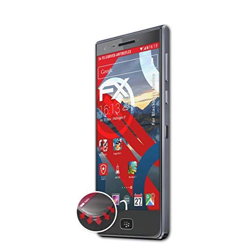 atFolix Schutzfolie kompatibel mit BlackBerry Motion Folie, entspiegelnde & Flexible FX Bildschirmschutzfolie (3X)