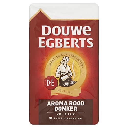 Douwe Egberts Filterkoffie Aroma Rood Donker (1.5 Kilogram, Intensiteit 06/09, Dark Roast Koffie), 6 x 250 Gram