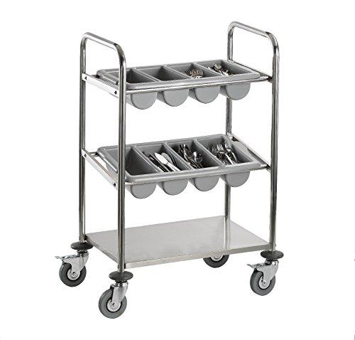 Saro INES Besteckwagen, Silber, 40 x 63 x 98 cm