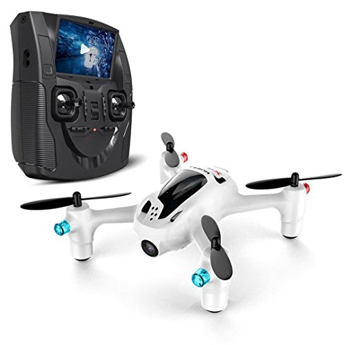 Hubsan® H107D+ 5.8G FPV X4 Plus-FPV Quadcopter 6-Achsen-Gyro RC Altitude Halten Headless Modus One Key Return Drone mit HD-Kamera, LCD-Monitor FPV Fernbedienung, weltweit kleinste FPV Quadcopter, 109mm x 94mm x 37mm, Weiß
