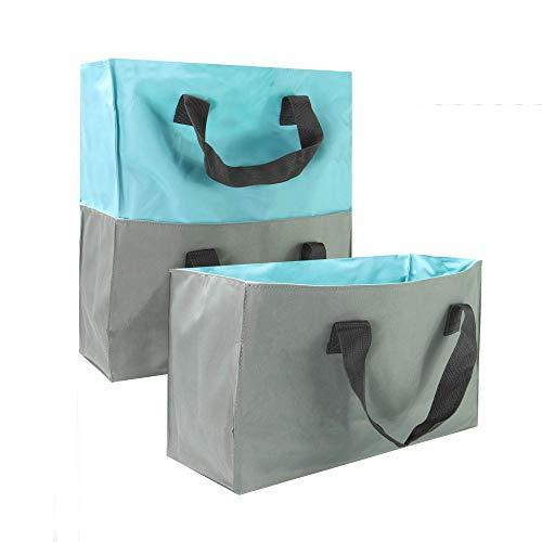 Erweiterbare Einkaufstaschen - 4er Set | Taschen für das Leben | Einkaufswagen Organizer | Wiederverwendbare Einkaufstasche | Einkaufstaschen Set | Grab Bags | M W