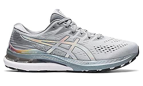 Asics Gel-Kayano 28 Platinum, Running Shoe Hombre, Piedmont Grey/White, 44 EU