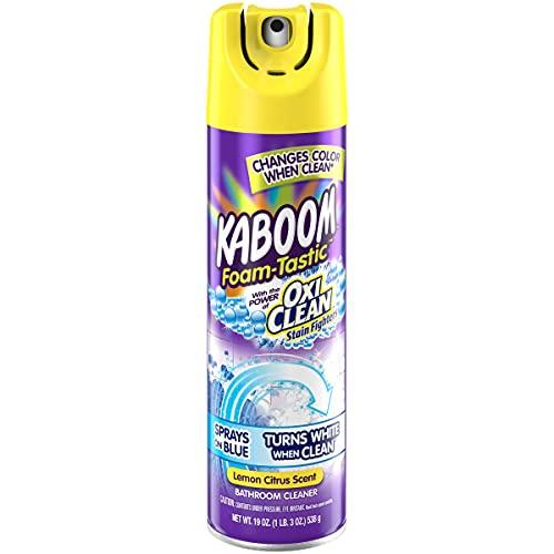 Kaboom Foam Tastic Bathroom Cleaner with OxiClean Citrus, Lemon, 19 Ounce