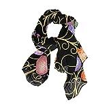 Rootti - Bufanda para mujer, diseño de huevos de Pascua, de gasa, elegante, suave, de poliéster transparente, de gran tamaño, para niñas y mujeres