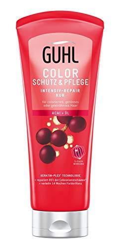 Guhl Color Schutz und Pflege Intensiv Pflege Kur - mit Acai-Öl - für coloriertes und getöntes Haar, 200 ml