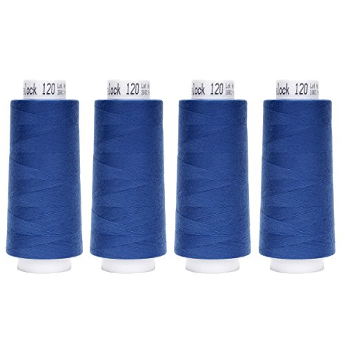 Best Prices! Amann Sewing Thread 100% Polyester 4 x 2500 m Blue