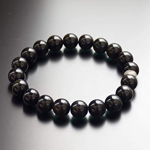 Black Obsidian Bead Bracelet Chakra Energy Protection Gift for Men & Women 10mm 8mm