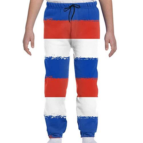 Yesbnow Jugend Jogginghose Jogging Bottom Sport oder Loungewear Hose, Flagge von Russland Trainingsanzug Bottoms für Jungen Mädchen Teenager