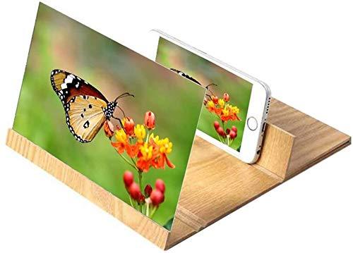 A, 12 '' Pantalla de pantalla 3D Pantalla HD Pantalla de plietaway Soporte de soporte Agrandar Pantalla de teléfono móvil Amplificador Portátil Home Cinema Cinema Smartphone Pantalla Amplificador dese