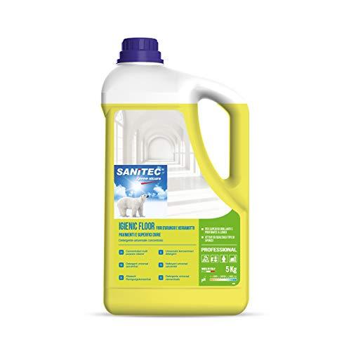 Sanitec Igienic Floor Detergente Pavimenti, 5 kg - Fiori D'Arancio e Bergamotto