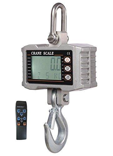 Isunking OCS-S 1000KG 2000LBS Báscula de grúa digital de aluminio Heavy Duty Báscula colgante compacta Elevadores 0.5 kg con control remoto
