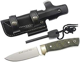 Muela kniv codiak 10 G.M MICARTA FIRESTEEL – verktyg för jakt, fiske, överlevnad och buscraft – tillverkad i Ciudad Real