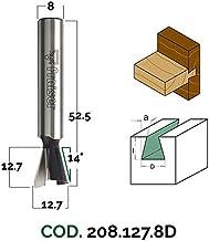 D 10 // I 70 // S 13 Sinistra Fresa per Legno da Combinata a Taglienti Dritti per Mortasa con Rompitruciolo HSS Frese Fraiser