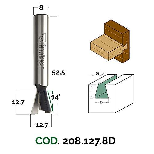 Gratfräser (Zinkenfräser) - D 12.7 / I 12.7 / S 8 / A 14 - Holzfräser für Oberfräse | Fraiser