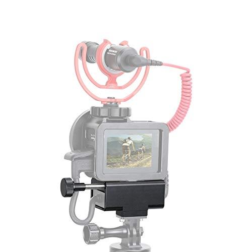 PULUZ Adaptador de microfone CNC liga de alumínio capa protetora para GoPro Hero 8 Preto / 7/6/5 gaiola de alumínio