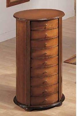 Mueble cajonera 4 cajones - Aspecto mimbre - Color BLANCO ...