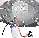 Qjkmgd Tenedor de líquido criogénico de Recipiente, Tanque de Dewar para el Laboratorio biológico con Tubo de pie presurizado, Bomba de Refuerzo, Pluma de Puntos, 6 frascos, medidor hidráulico, f 2,5