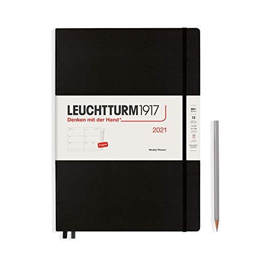 LEUCHTTURM1917 Wochenkalender 2021 Hardcover Master (A4+), 12 Monate, Schwarz,...