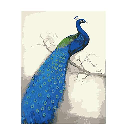 Frameloze olieverfschilderij Baisite D Olie Ng door cijfers afbeeldingen voor woonkamer canvas Ng Pauw muurkunst Home