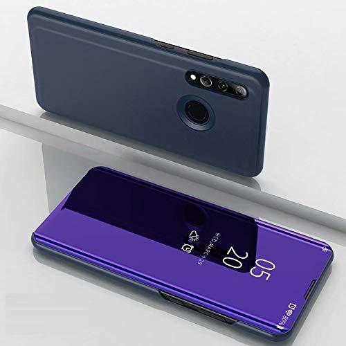 A/M Huawei-Handyfall JRC Galvanik Spiegel Horizontal Flip Ledertasche for Huawei Honor 10i / Nova 4 Lite, mit Halter (Black) Huawei Erweiterte Stoß- Rückfall (Color : Violet Blue)