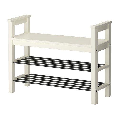IKEA HEMNES – Zapatero, blanco, 85 x 32 cm