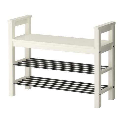 Hemnes - Banco con zapatero, color blanco