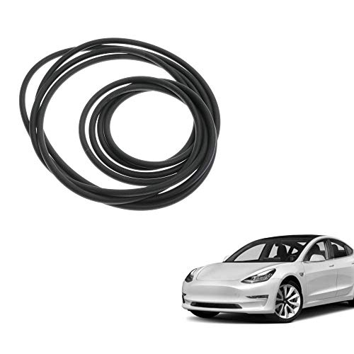 DEF Tesla Model 3 Windshield & Roof Wind Guard Noise Lowering Dampening Reduction Kit, 100% Silica Gel, Sun-Resistant and Durable, Quiet Seal Strip Kit