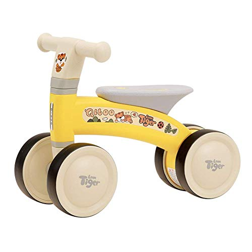 ZJHTK Andador Bebe, Scooter de equilibrio de cuatro ruedas para niños pequeños, Silla de Bebé Plegable y Ajustable para Bebés Mayores de 12 Meses, Portátil Bebe