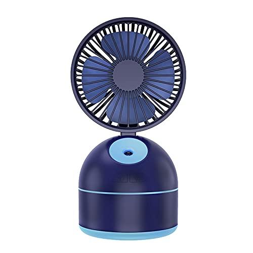 LWZ Piccola Ventola Spray, Ventola Desktop di Fascia Alta, Ventola di umidificazione e Bellezza, Adatta per Ufficio, Lavoro, Esterno, casa,Blu
