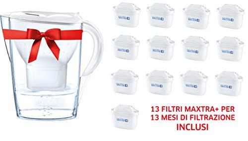 BRITA Marella set met 13 filters MAXTRA+ - waterfilterkan 2,4 l wit, 13 filters MAXTRA+
