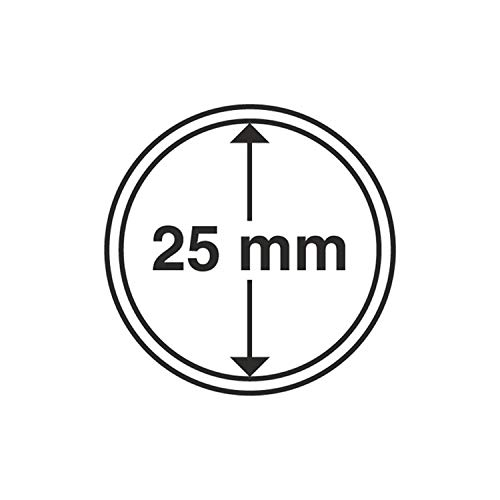 Leuchtturm 331675 cápsulas de Monedas diámetro Interior 25 mm