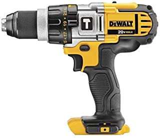 Dewalt DCD985BR 20V MAX Cordless Lithium-Ion Premium 3-Speed Hammer Drill (Bare Tool) (Renewed)