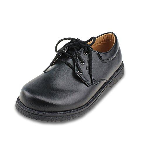 ボイーズシューズ 男の子 フォーマルシューズ 履きやすい 紐靴 ブラック 23.8CM [8369]