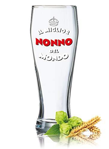 Boccale da birra di Weizenbiera, 0,5 l, decorazione: Il miglior nonno del mondo