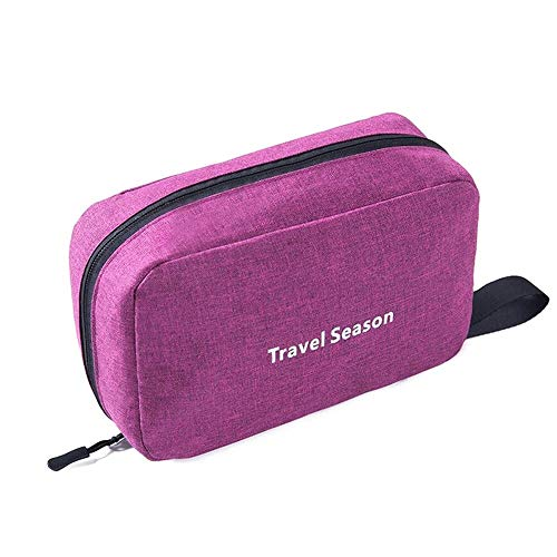 Opslag Rack Portable waterdichte toilettas Polyester Vouw Travel cosmetische make-up Organizer Wash Scheren Zipper Suspension Bag accessoire Supplies Organizer (zwart) Home Kitchen supplies