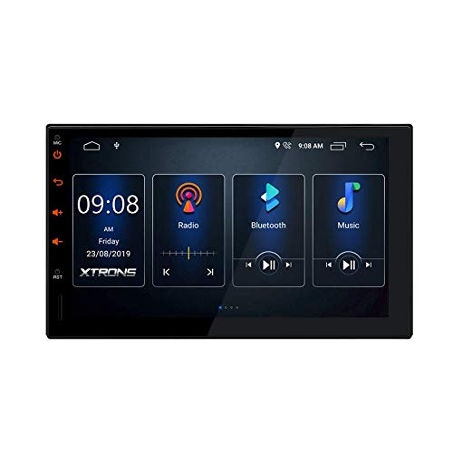 Android 10 Auto Stereo Doppel 2 Din In Dash Autoradio GPS Navigation 2 GB RAM 16 GB ROM 7 Zoll Touchscreen Head Unit Eingebaute DSP-Unterstützung CarAutoPlay DVR-Eingang / WiFi / Voller Cinch-Ausgang