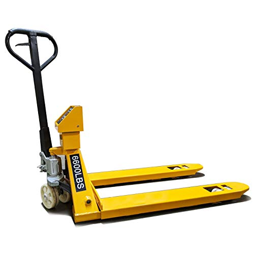 PEC Pallet Jack Truck with Build-in Scale and Thermal Printer, 6600lbs Capacity, 48