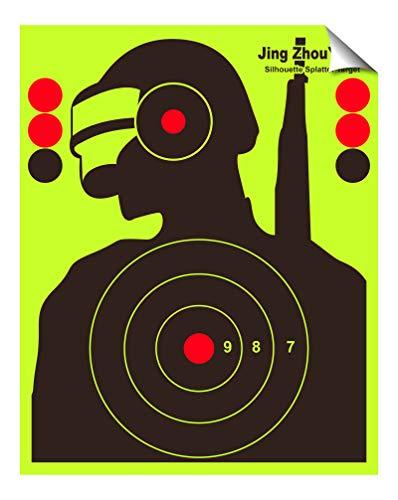 JingZhouYang  Reusable Splash Shooting Target 10 x 125inch selfAdhesive Fluorescent Yellow Aiming Target for Indoor and Outdoor Shooting ranges
