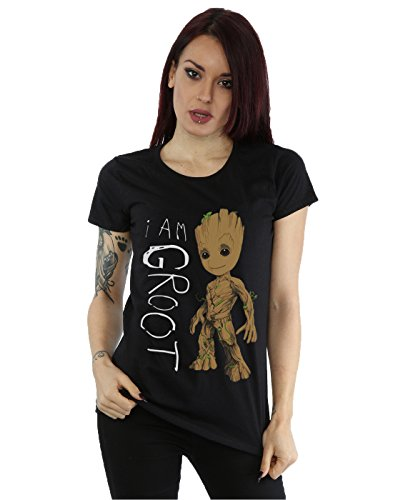 Marvel Femme Guardians of The Galaxy I Am Groot Scribbles Petit Ami Fit T-Shirt