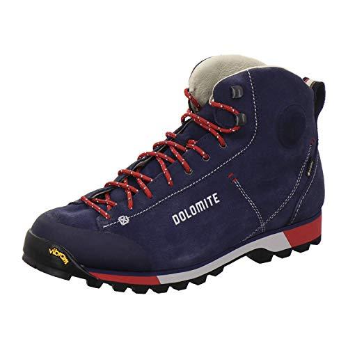 Dolomite Bota Cinquantaquattro Hike GTX, Stivali da Escursionismo Alti Uomo, Blue/Red, 46.5 EU
