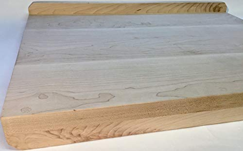 Pastry Board, Maple Wood, Countertop Reversible, With Lip/Backsplash & Counter Edge Stopper