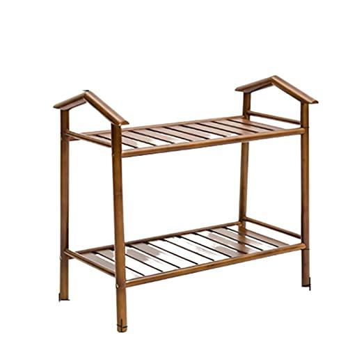 LYLY Zapatero simple zapatero de bambú para zapatos, estante independiente para almacenamiento de zapatos para dormitorio, armario, entrada, dormitorio (tamaño: dos pisos)