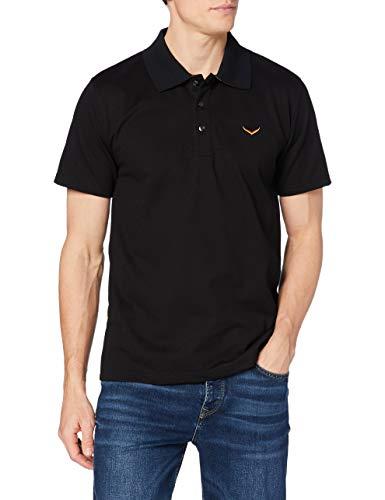 Trigema Herren Poloshirt, Schwarz (Schwarz 008), XXX-Large