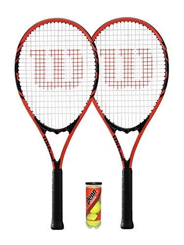 Photo of Wilson 2 x Federer Adult Tennis Rackets + 3 Tennis Balls