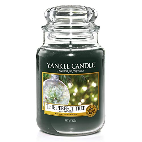 Yankee candle 1556280E Giara Profumata The Perfect Tree Grande Profumazione Ambiente, Multicolore, 10,7 x 10,7 x 16,8 cm, fragranze naturali