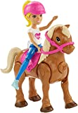 Barbie On The Go Caramel Pony and Doll - Muñecas (Multicolor, Femenino, Chica, 4 año(s),, Ampolla)