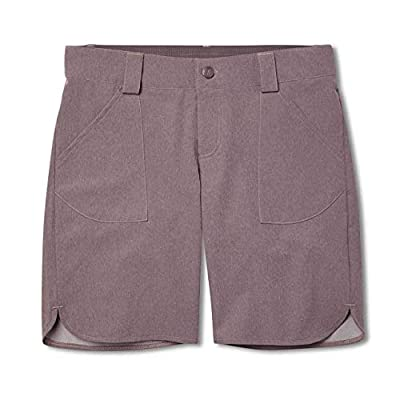Flylow Women's Sundown Shorts - Quick Dry - Ideal for Camping, Hiking, Mountain Biking and Water Adventures (Shark (Heather), M)